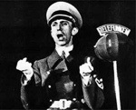 Joseph Goebbels speaking into the microphone